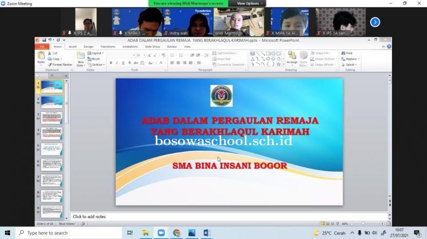 SMA Bosowa Bina Insani Gelar Foundation Programme